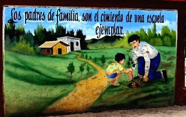Mural 2 en la escuela de La Laguna de Sta. Ma. del Oro, Nayarit