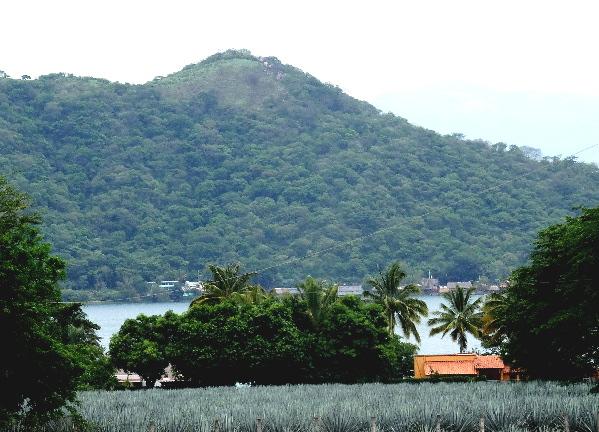 Paisaje agavero Laguna de Sta. Ma. del Oro, Nayarit