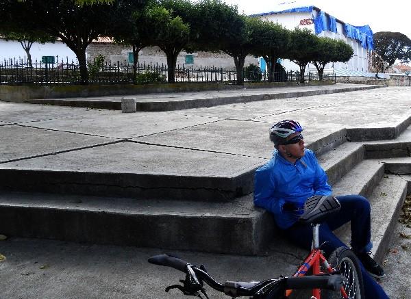 Cicloturista en Zinacantán Chiapas, 2017