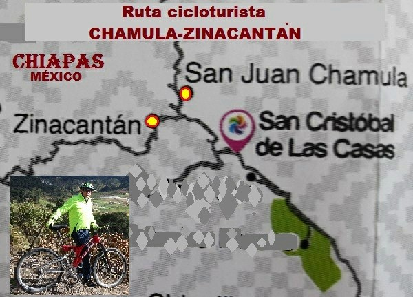 Ruta cicloturista Chamula-Zinacantán, Estado de Chiapas. Cicloturismo 2017