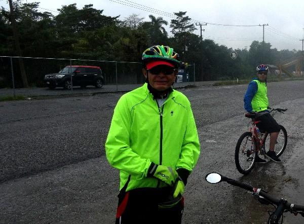 Cicloturistas rumbo a Comalcalco ruinas y Paraiso Tabasco, 2018 tiempo lluvioso