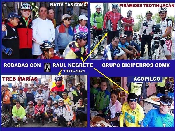 Raúl Negrete con Biciiperros rodadas a Nativitas, Teotihuacán, Tres Marías y Acopilco. (1970-2021)