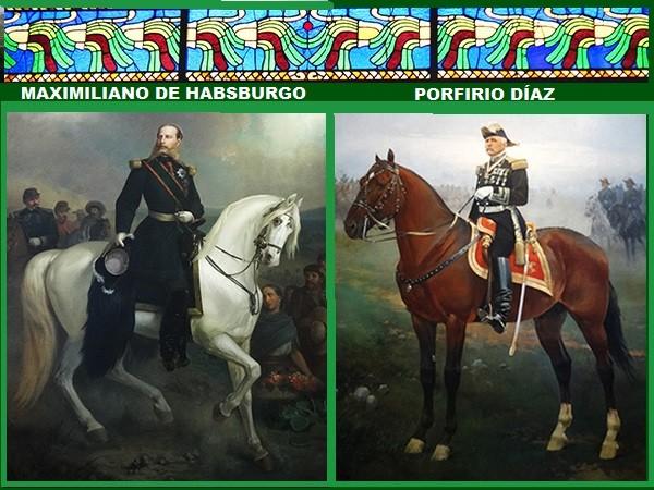Cuadros de Maximiliano I y Porfirio Díaz, Museo Nacional de Historia del Castillo de Chapultpec, Alcaldía Miguel Hidalgo CDMX. Senderismo urbano