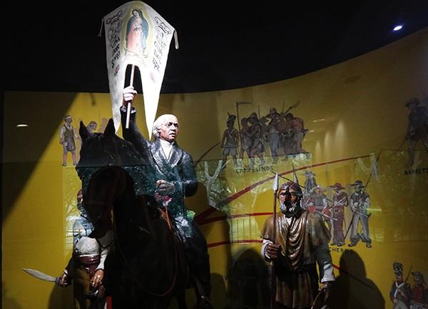 Representación del grito de independencia de México, Museo del Caracol, Bosque de Chapultepec Alcaldía Miguel Hidalgo CDMX. Senderismo urbano