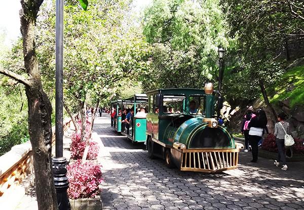Trenecito del Bosque y cerro de Chapultepec 1a, sección, Alcladía Miguel Hidalgo CDMX. Senderismo urbano