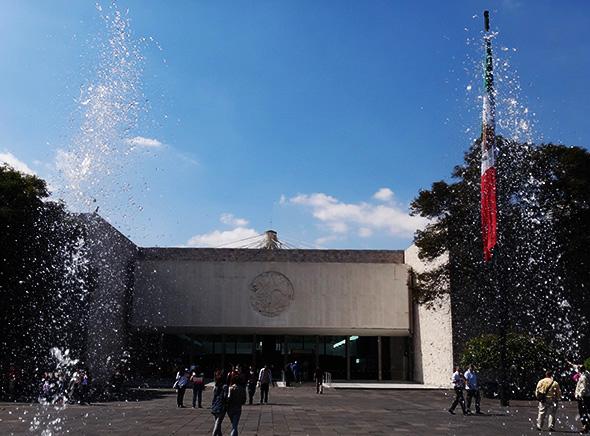 Museo Nacional de Antropología, Paseo de la Reforma Cd. de México. Senderismo urbano